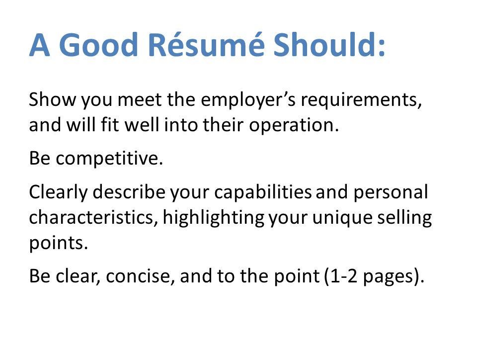 rÉsumÉ workshop careers jobs work job a specific employment