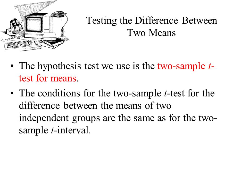 AP Statistics Chapter 24 Comparing Means. Objectives: Two-sample t ...