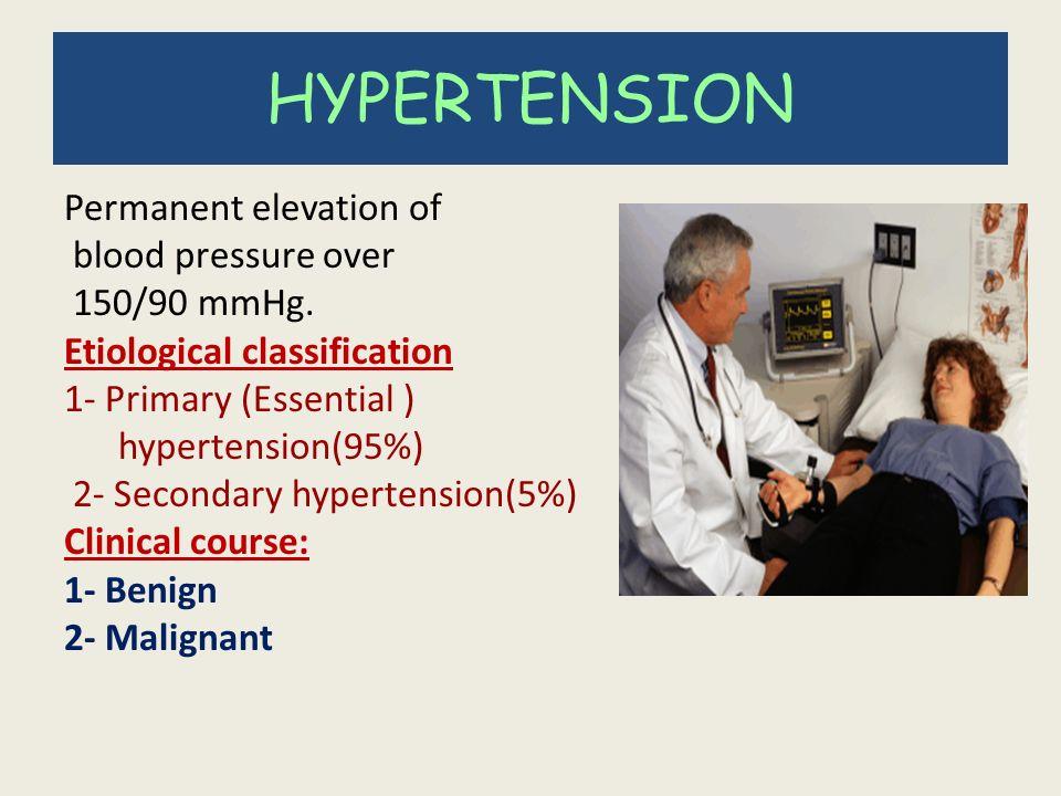What is benign essential hypertension?