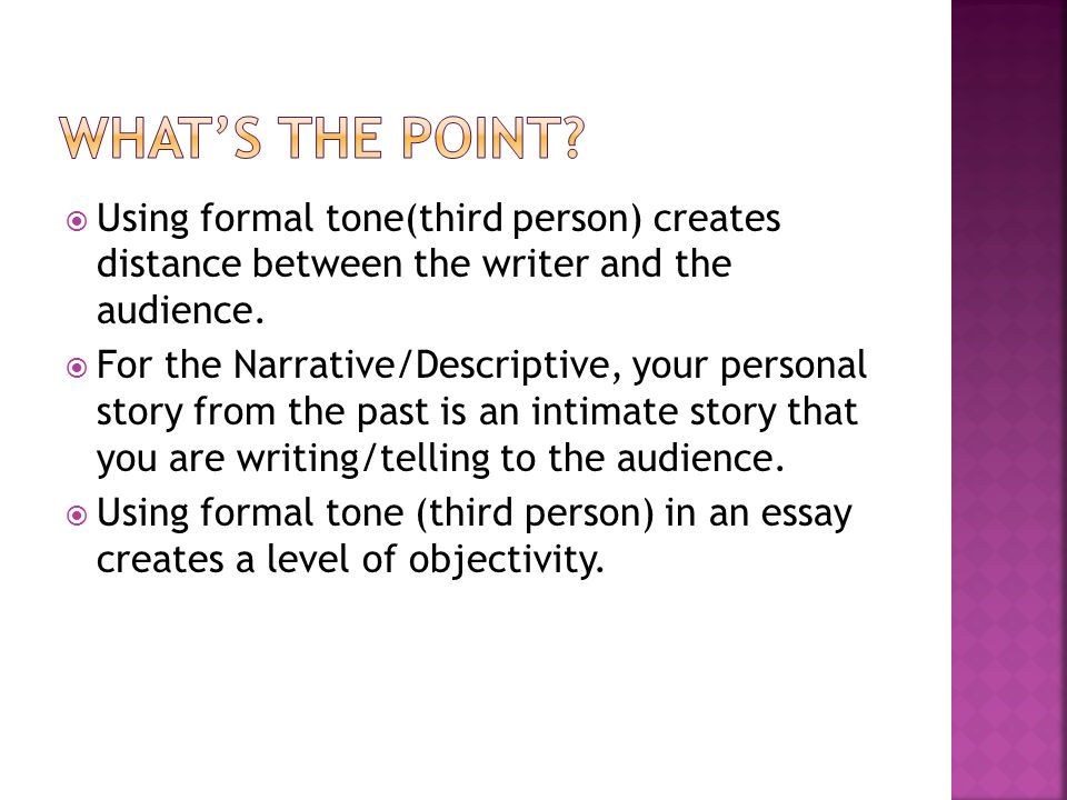 narrative essay form 1