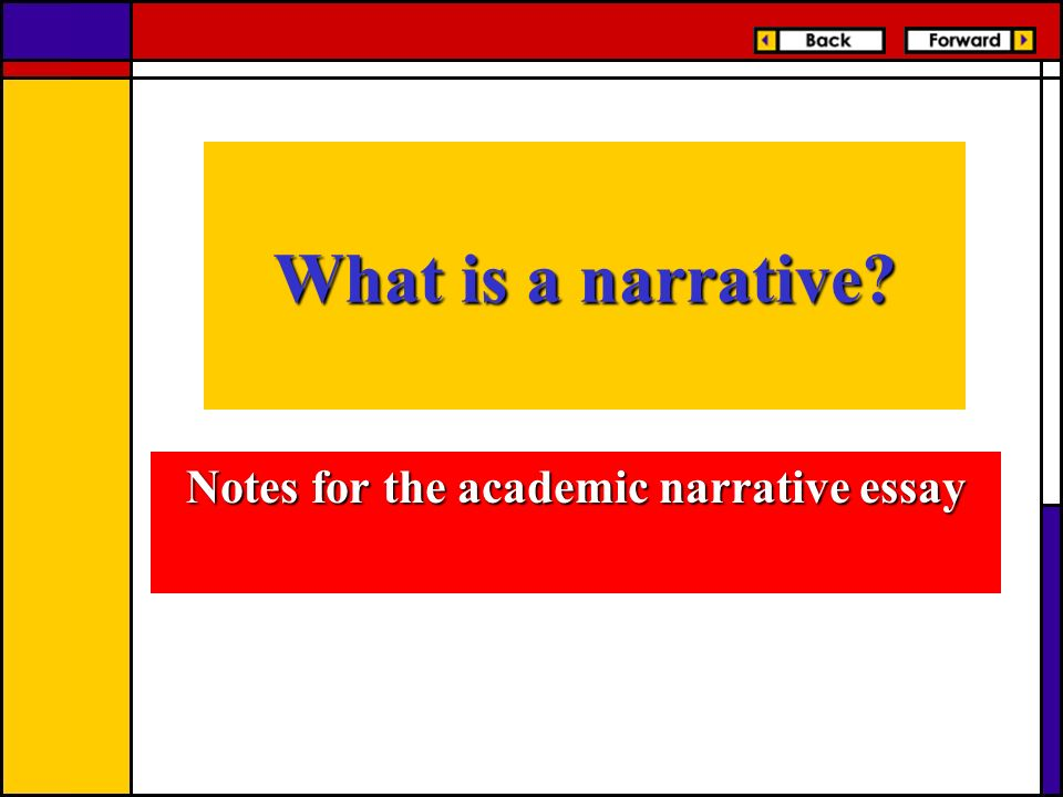 notes writing narrative essay