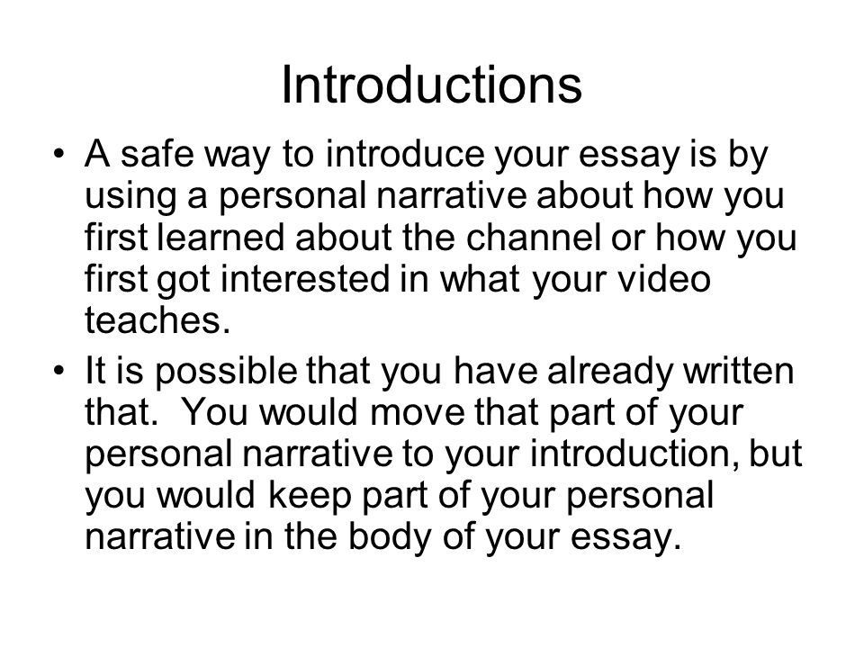 how can i write essay introduction Learn the method for writing the perfect essay introduction a good introduction makes writing an essay easy and reading it fun and yo.