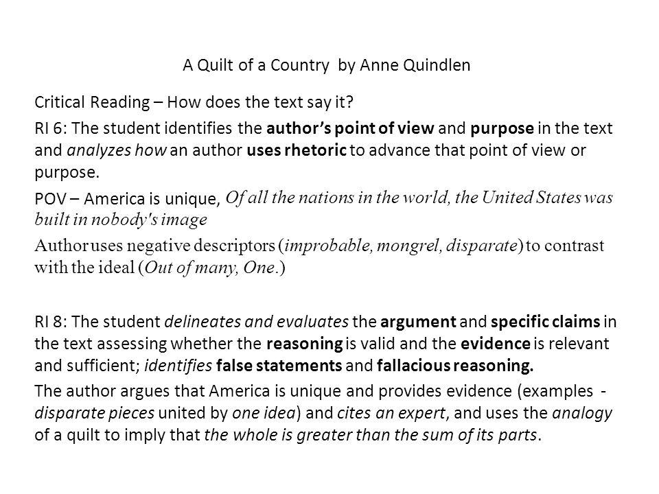quindlen rhetorical analysis