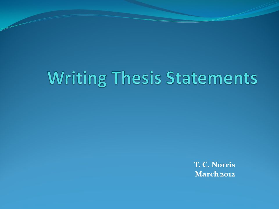 define what a thesis statement is