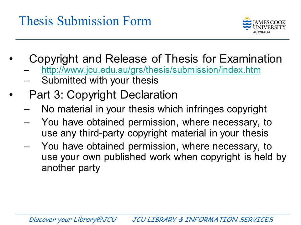 thesis copyright infringement