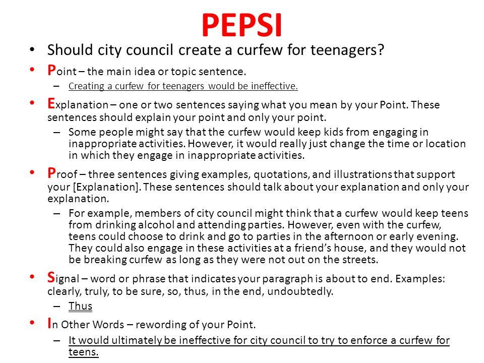Persuasive Essay Help??????????????????????????PLZ?????????ON CURFEWS?