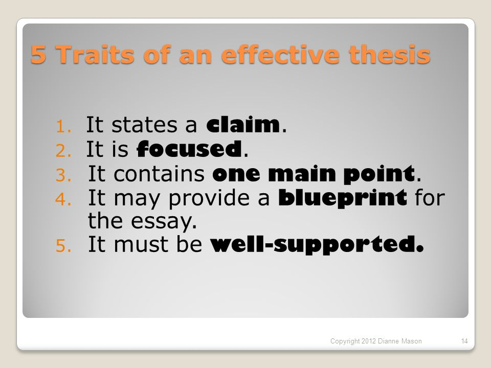 How to write powerful thesis statements 1 theseus vs thesis 5 traits of an effective thesis 1 it states a claim malvernweather Gallery