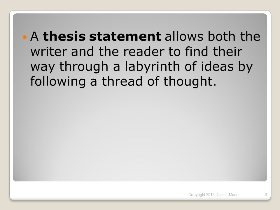 Ideas For A Thesis Statement