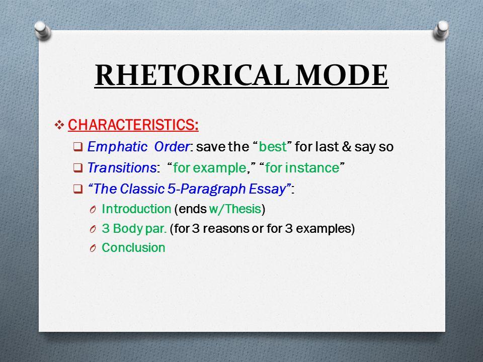 illustration aka example essay the rhetorical mode ppt 7 rhetorical