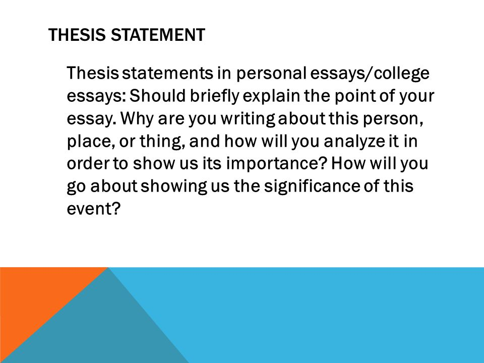 thesis in college essay Hunter college's developing a thesis hamilton college's introductions and thesis statements capital community college's the thesis statement.