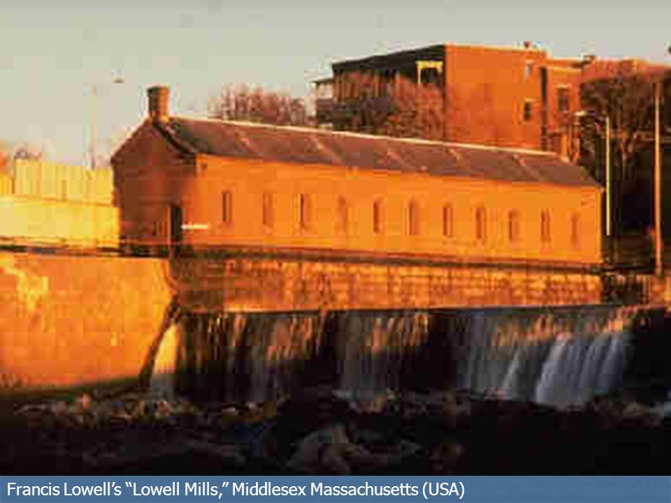 Francis Lowell's Lowell Mills, Middlesex Massachusetts (USA)