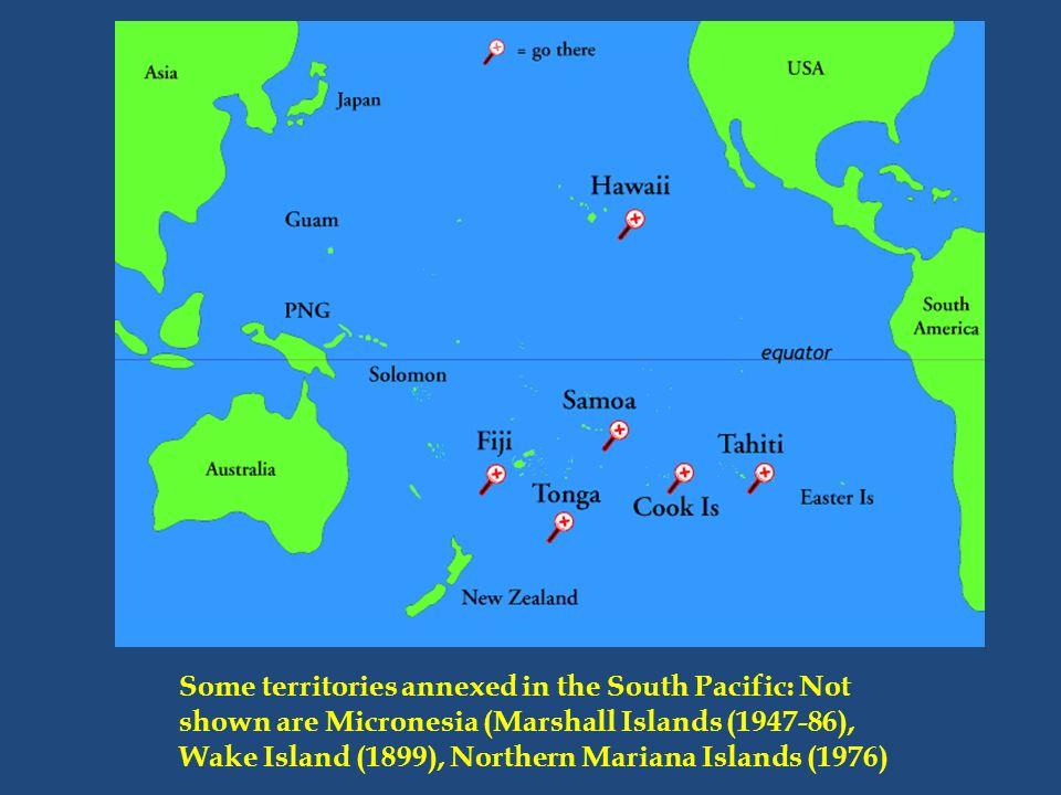 After Spanish American War US Annexes Hawaii Samoa Guam Puerto - Map us territories guam puerto rico