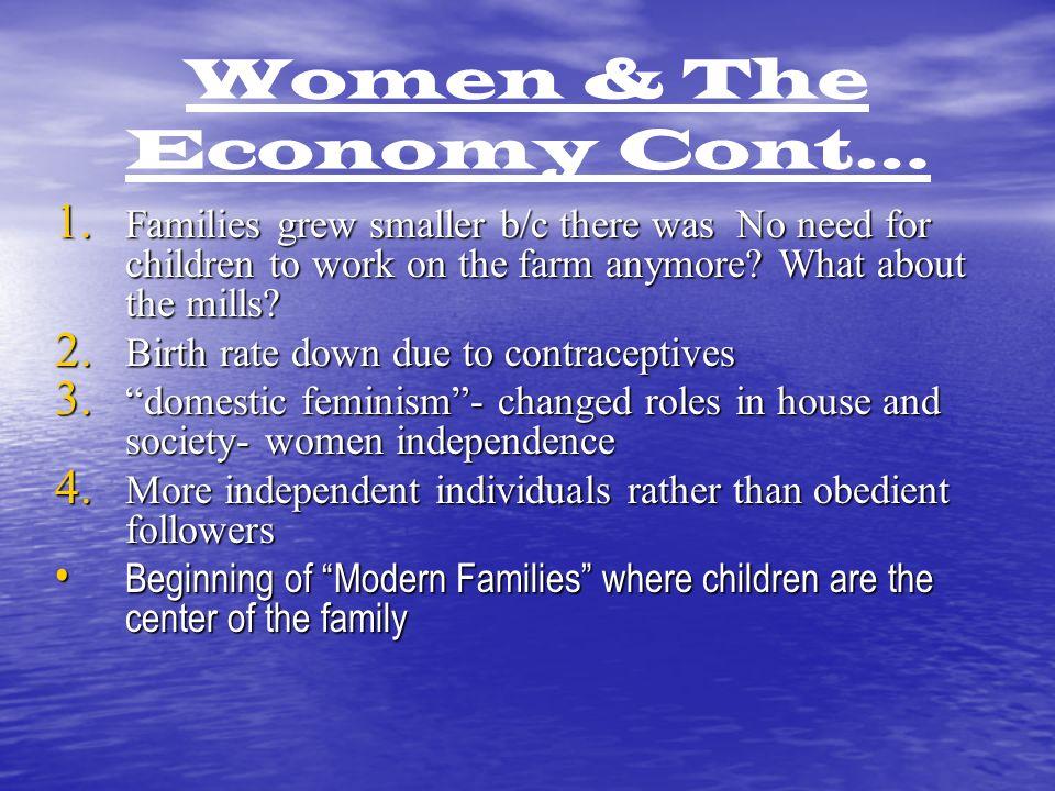 Women & The Economy Cont… 1.