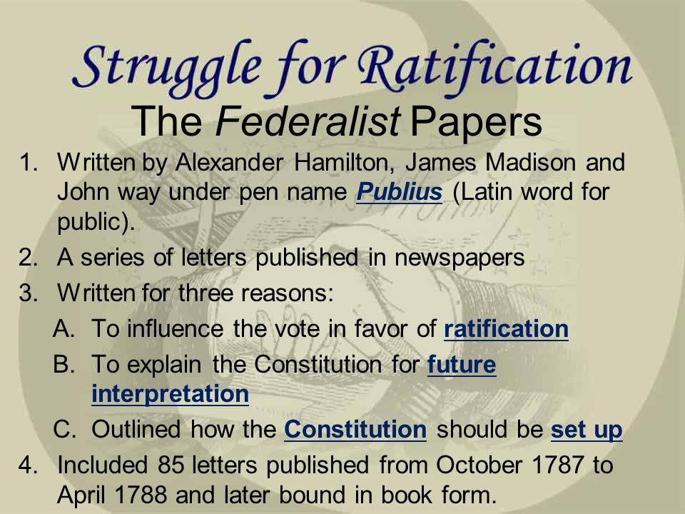 george mason anti federalists federalists the federalist papers  the federalist papers 1 written by alexander hamilton james madison and john way under