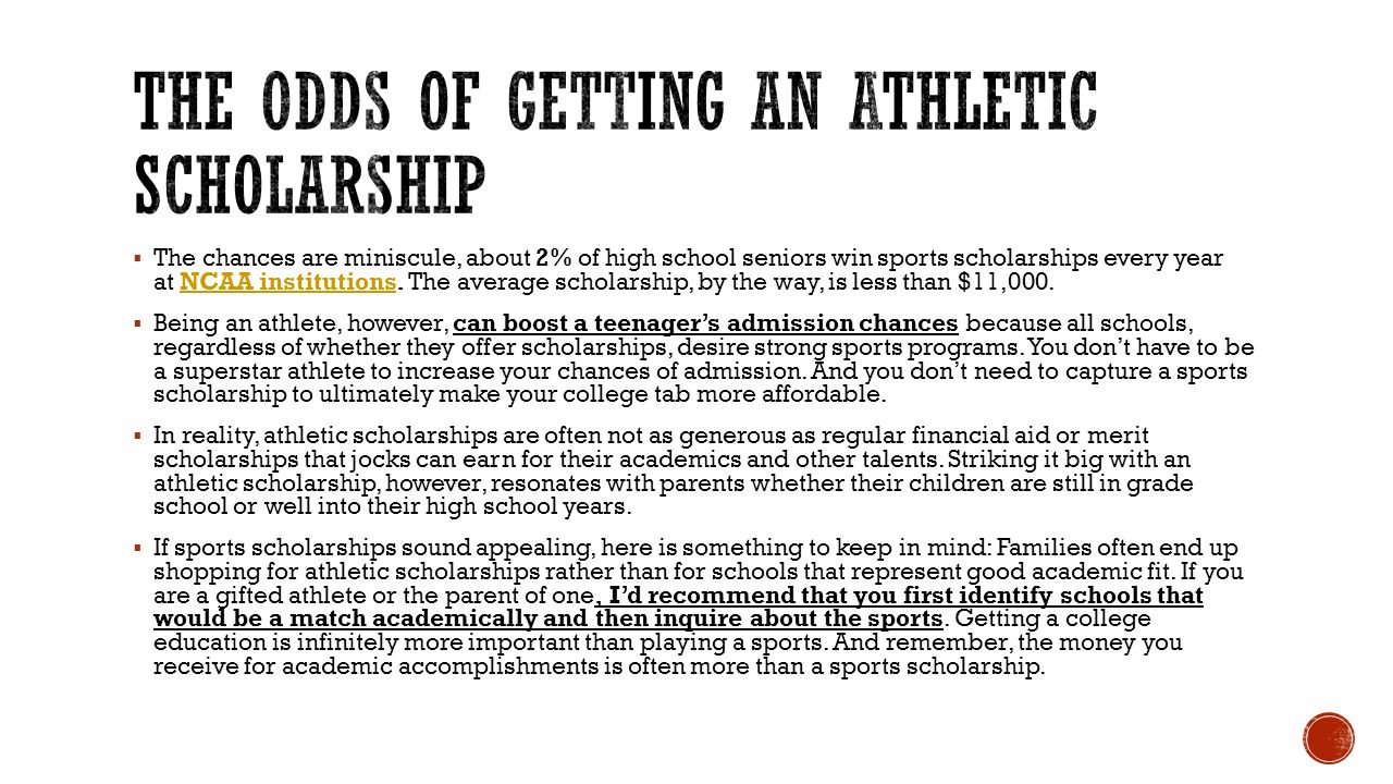 Outline of what High School Student Athletes Need to know. - ppt ...