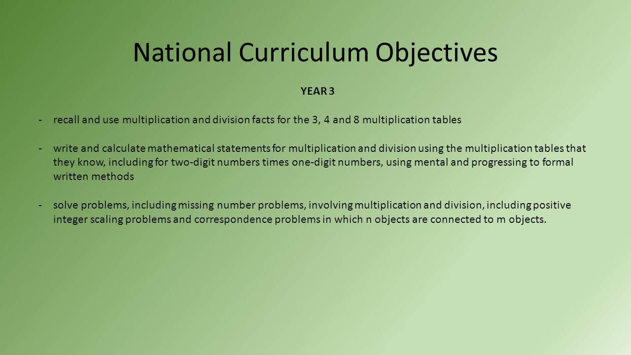 Year 3 and 4 multiplication national curriculum objectives year 3 2 national curriculum gamestrikefo Images