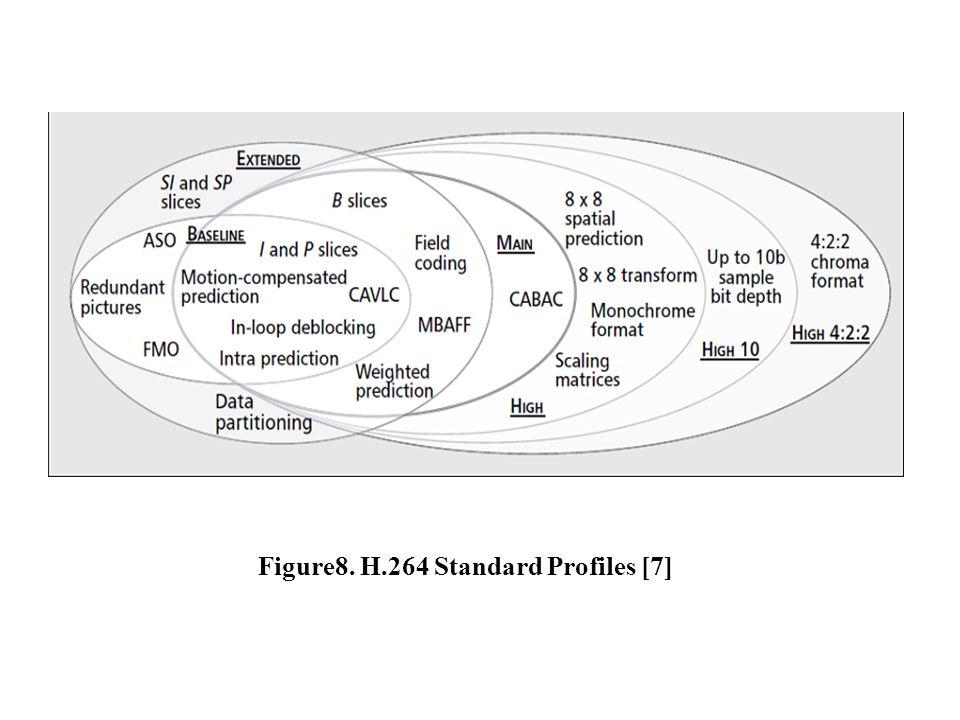 Figure8. H.264 Standard Profiles [7]