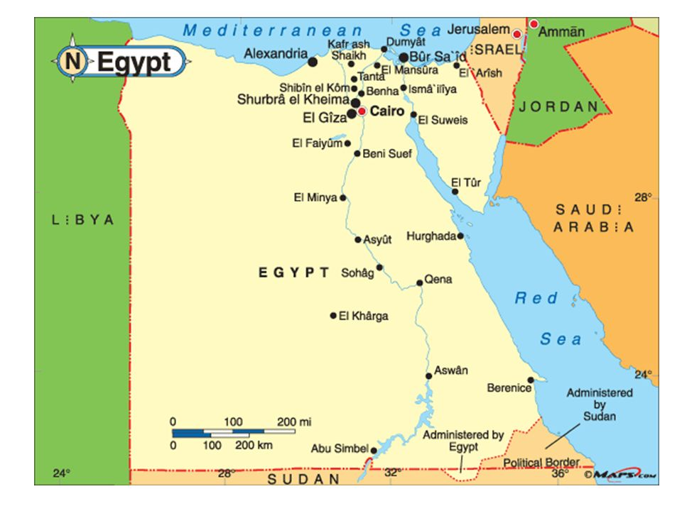 Southwest AsiaNorth Africa The Middle East Egypt Ppt Download - Map of egypt eastern desert