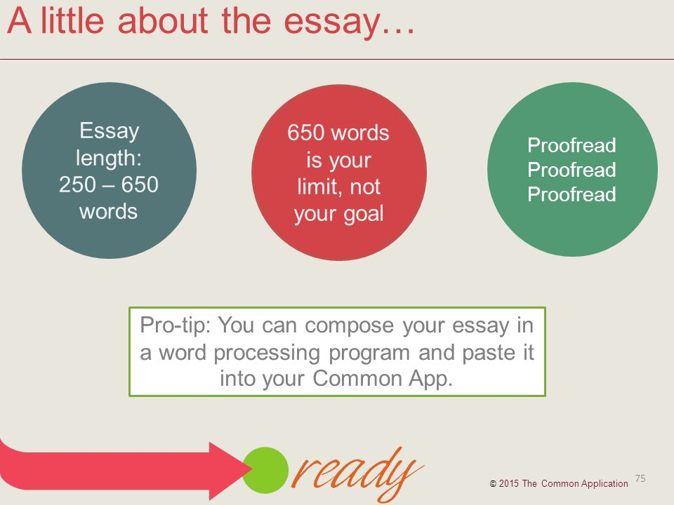 length common application essay