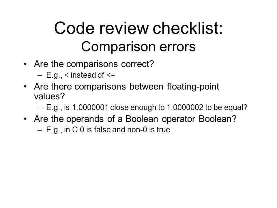 c code review checklist