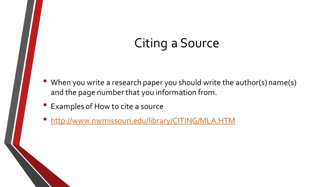 source in a research paper 159 10 writing the research paper he research paper is an original essay presenting your ideas in response to information found in library sources as you gather research material, your ever-increasing.