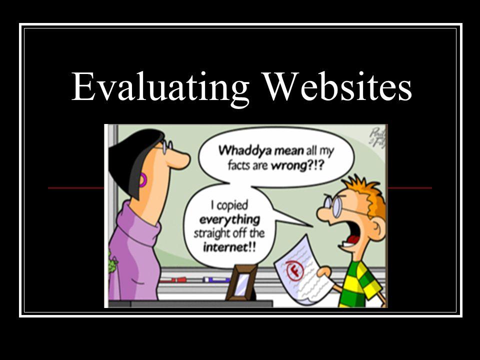 evaluating a website