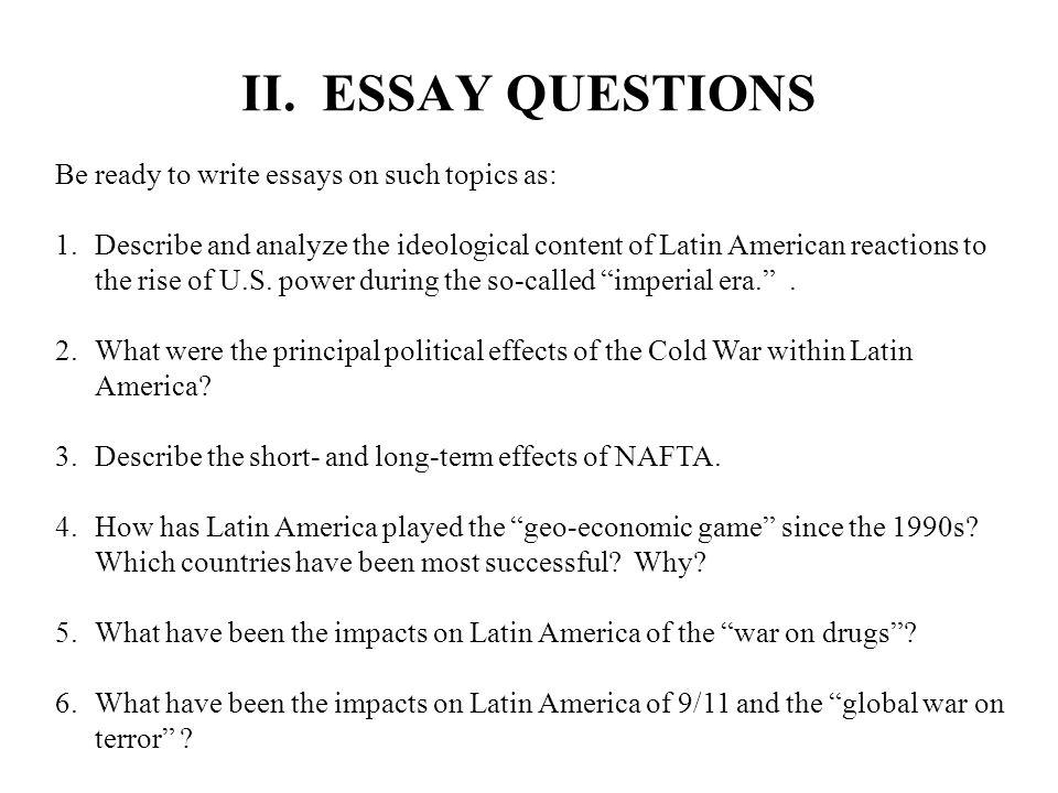 political ideologies essay questions