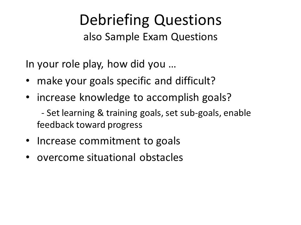 ReadingLectureRole PlaySelfAssessment Latham Article Chapter 25 – Training Feedback Questions