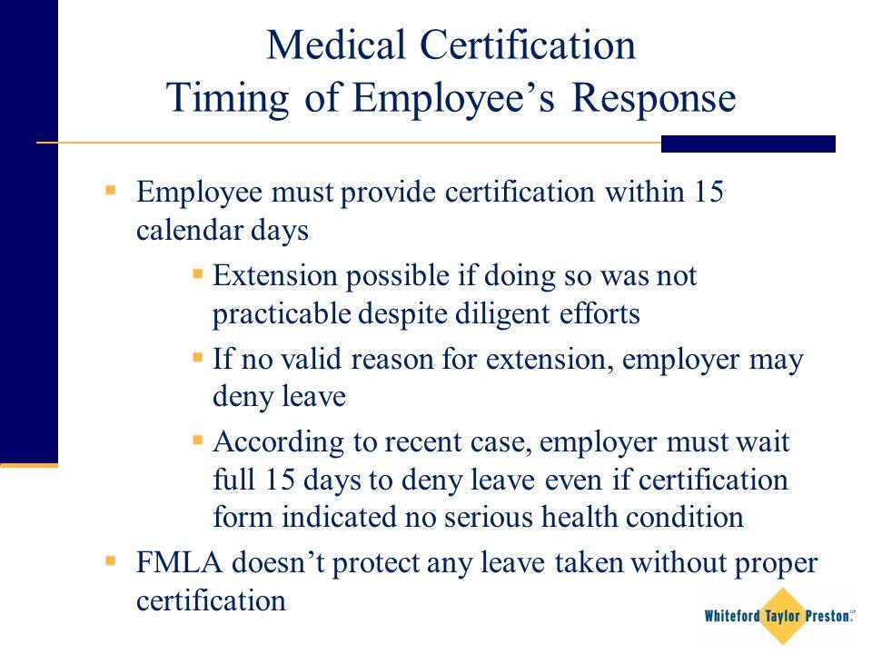 FMLA BASICS Bowie State University Supervisor Compliance Training ...