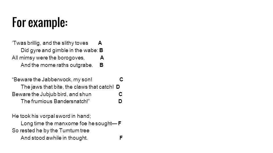 Rhyme And Rhyme Scheme Types Of Rhyme End Rhyme When The Words At