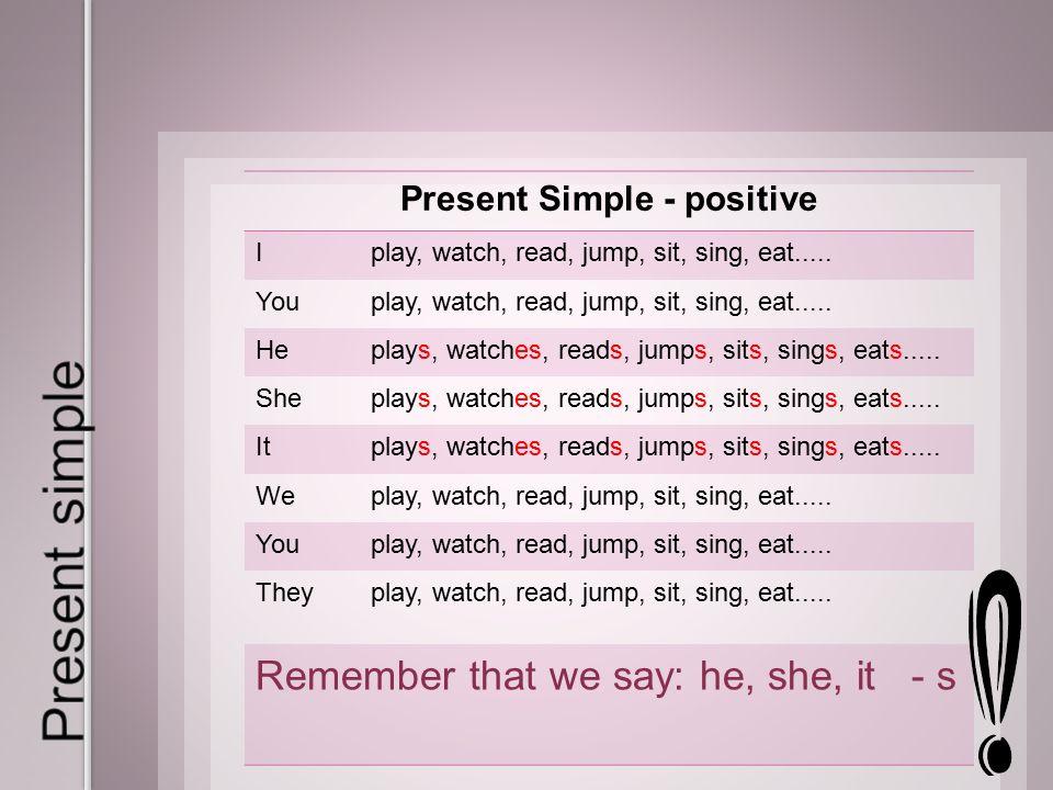 The Present Simple Tense (правила для начинающих)