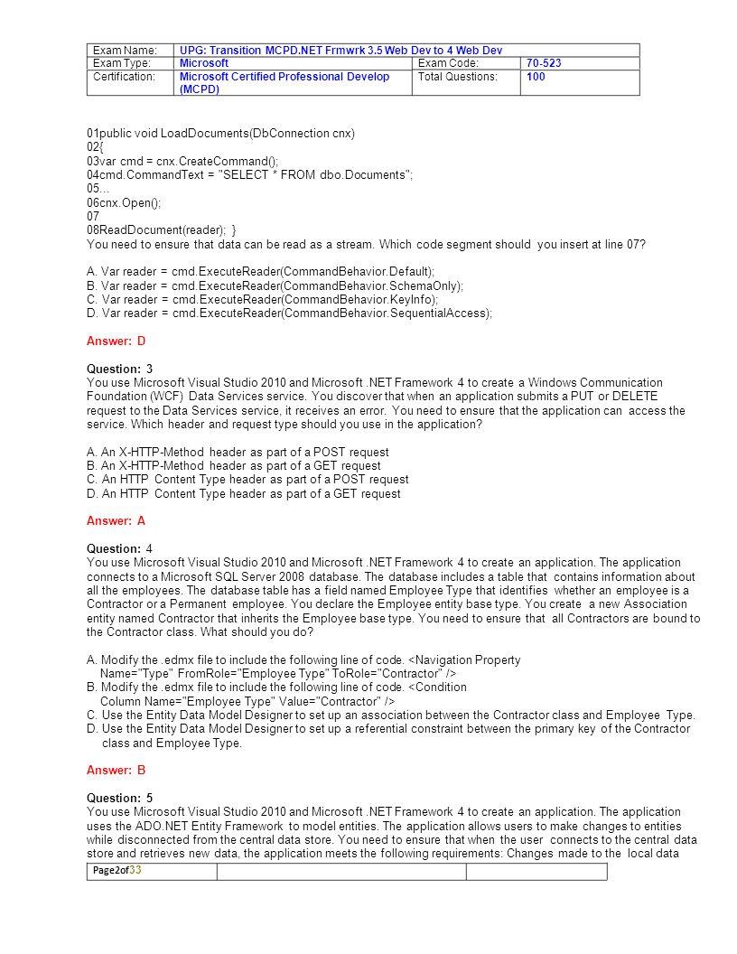 Microsoft upgrade transition your mcpd framework 35 web 3 exam xflitez Images
