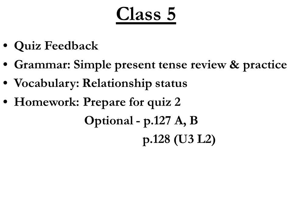 Printable Worksheets tense worksheets for grade 5 : Class 5 Quiz Feedback Grammar: Simple present tense review ...