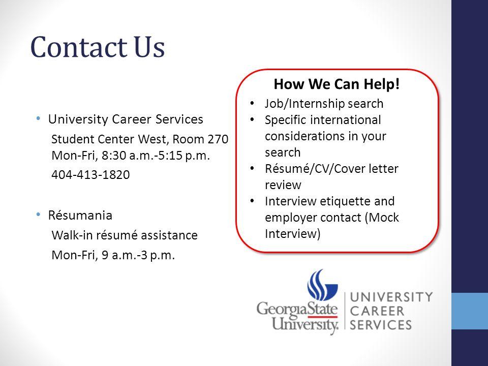 job search tools for international students résumé cover letter
