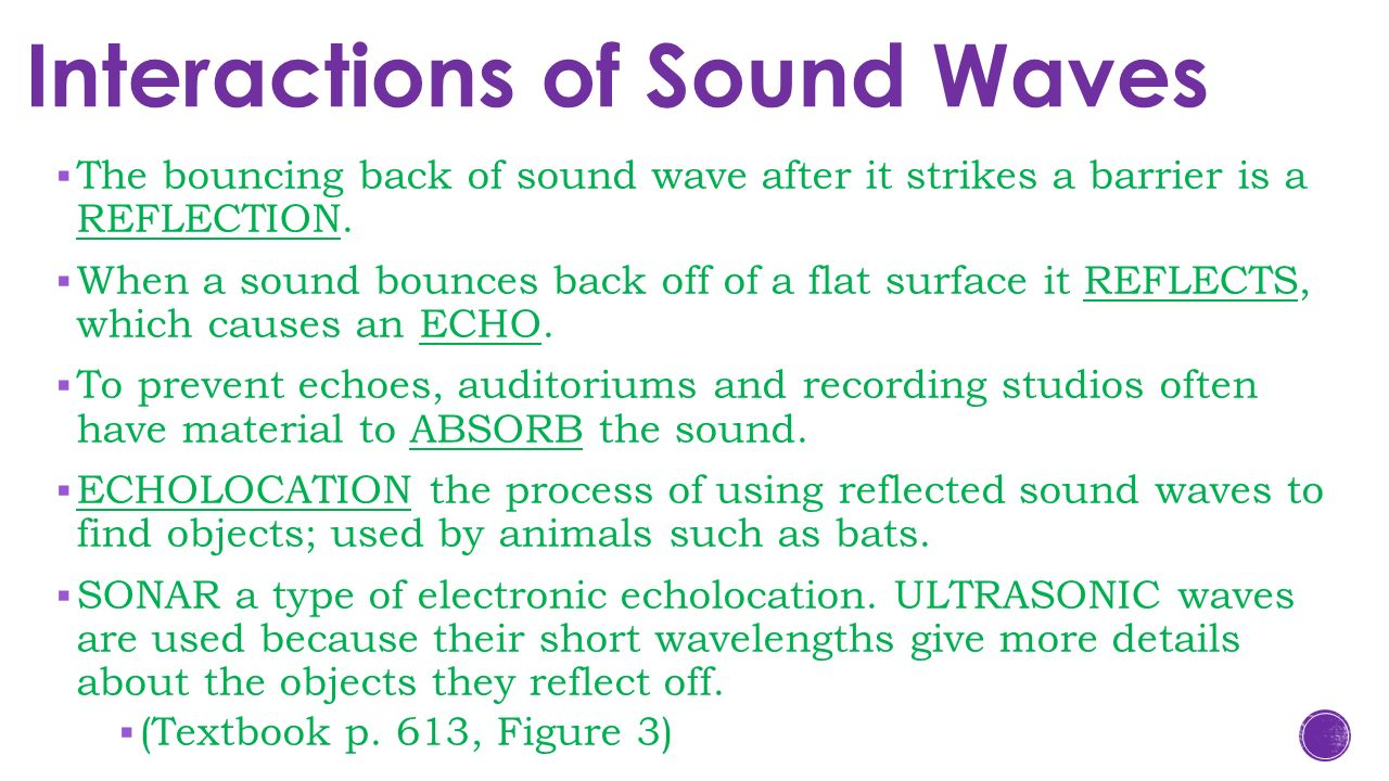 Sound Waves Bouncing Off