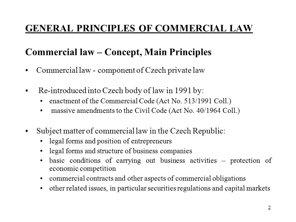 contracts in commercial law Resources for commercial law, including competition and consumer law, corporations and business law, contract law, industrial law, intellectual property law, and taxation law.