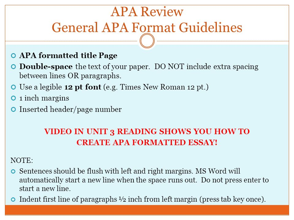 apa general format In this video, we discuss general formatting according to the style guidelines of the american psychological association (apa) please download our apa form.