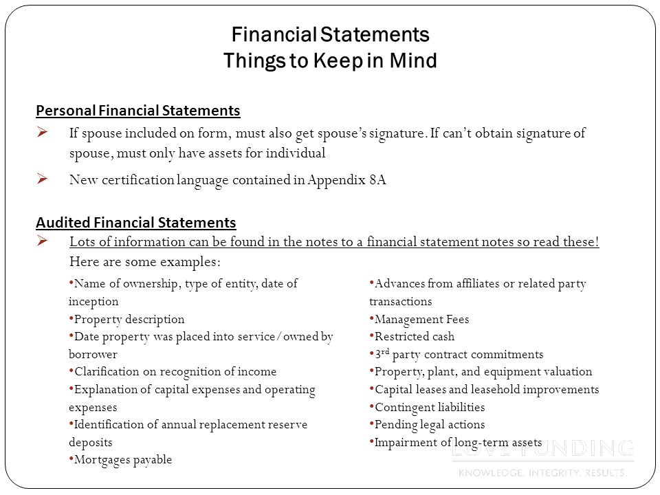 35 Financial Statements ...