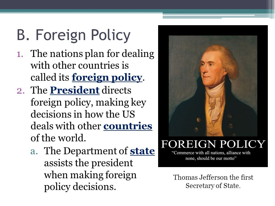 thomas jefferson foreign domestic policies
