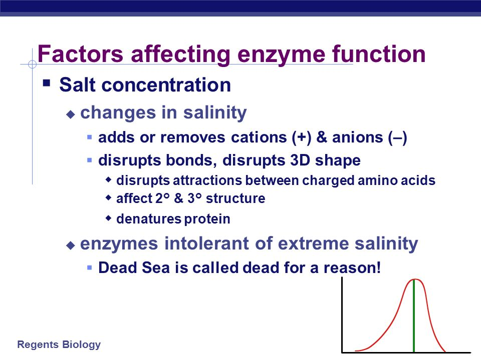 Regents Biology Salinity salt concentration reaction rate What's happening here !