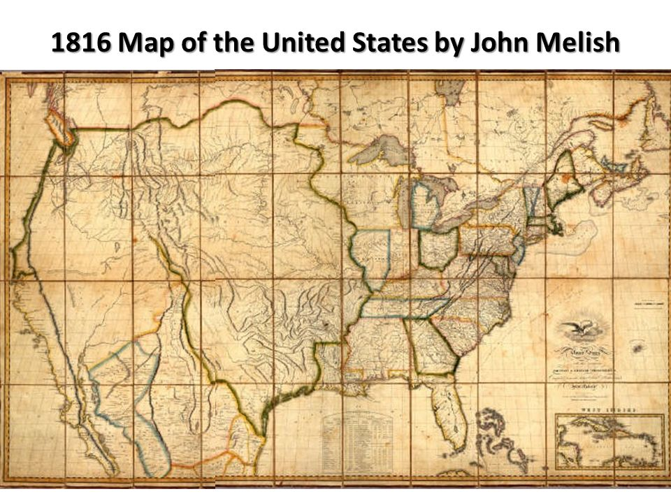 3 Map Of The United States In 1816