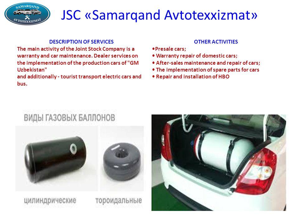 Jsc Samarqand Avtotexxizmat History Of Creation The Company Was