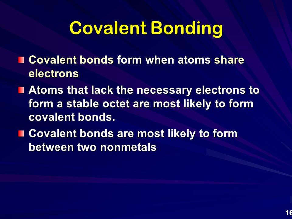 Chemical Bonding 1. Types of Chemical Bonding ...