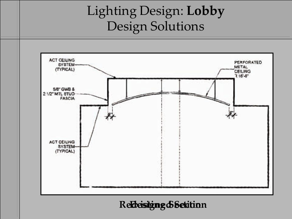 10 ` 4u0027 Strip Cove Light Existing SectionRedesigned Section Lighting Design Lobby Design Solutions. `  sc 1 st  SlidePlayer : cove lighting section - azcodes.com