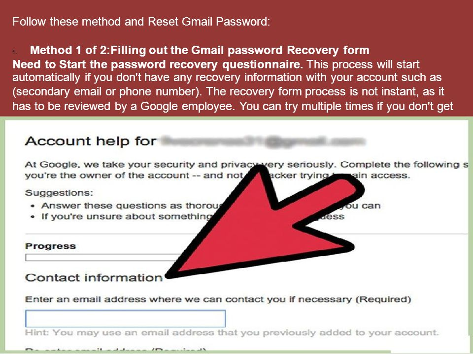 Gmail Password Reset Process Do you want to Reset your Gmail ...