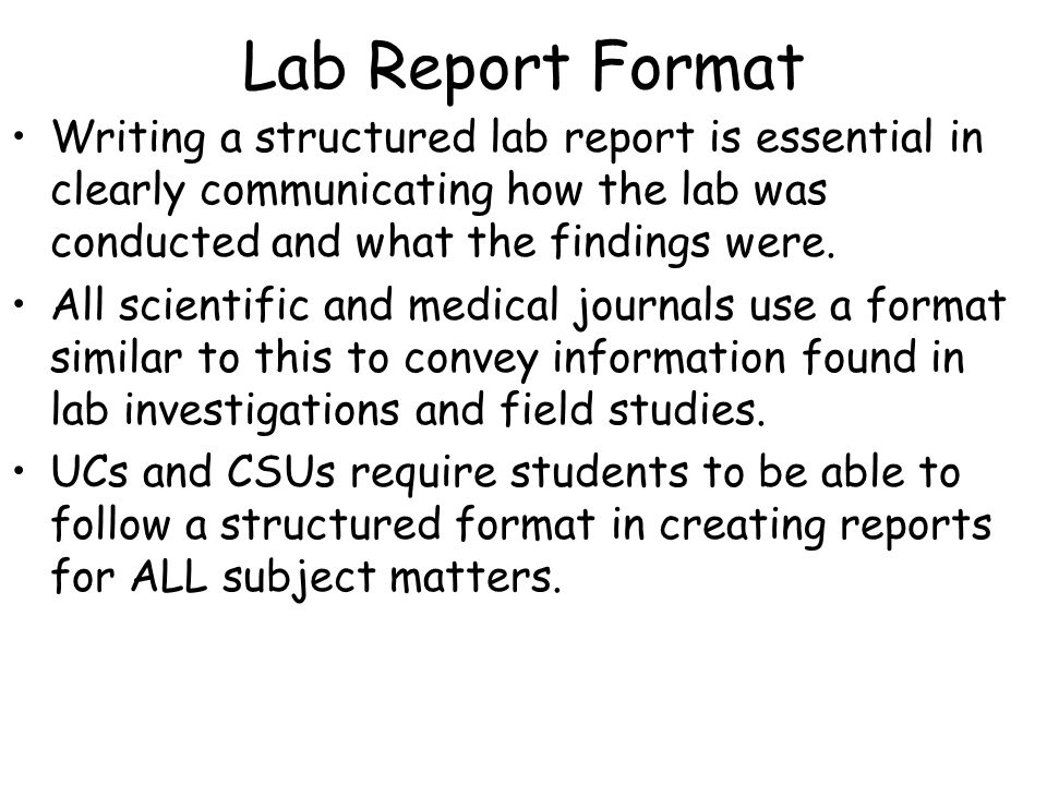 how do i write a biology lab report