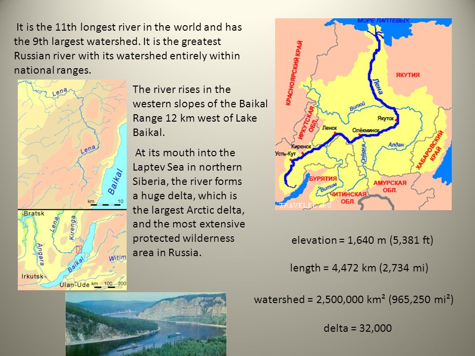 Lena River Samsonova Rita V The Lena Is The Easternmost Of The - Two longest rivers in the world