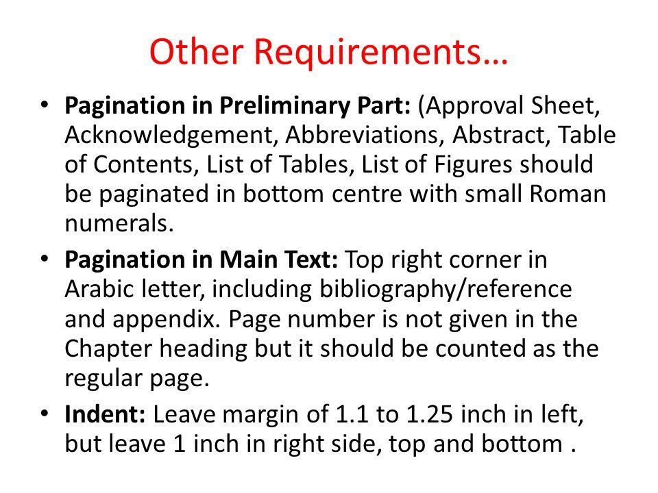 Abbreviations Section Dissertation