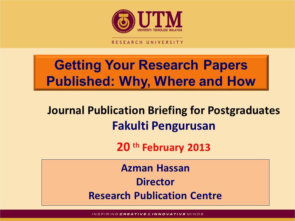 utm research paper