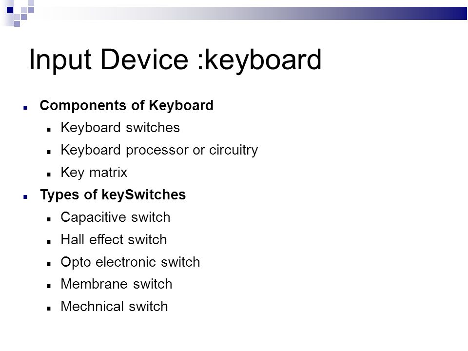 an input device keyboard